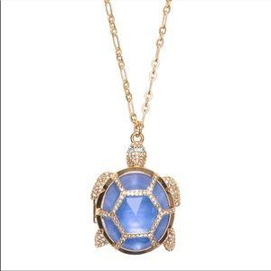Kate Spade Paradise Found Jeweled Turtle Locket